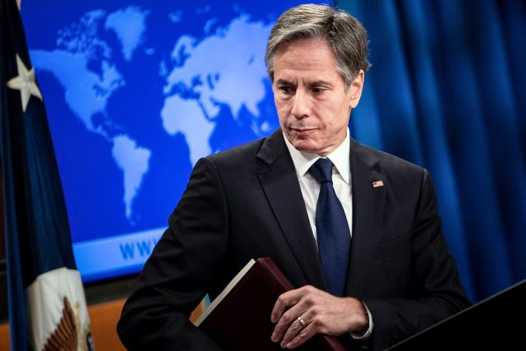 Image: Blinken makes address on Afghan refugees