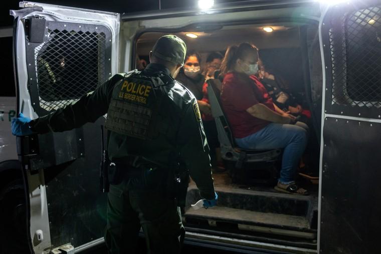 Image: Undocumented Immigrants Attempt To Cross Into U.S. Near Del Rio, Texas