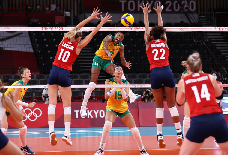 Image: ***BESTPIX*** Volleyball - Olympics: Day 16