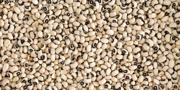 Background texture of black-eyed beans