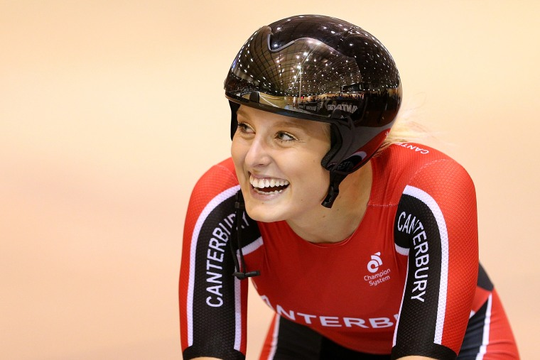 Image: Olivia Podmore of Canterbury finishes first in the Elite Women Keirin final during the New Zealand Track Nationals on Feb. 4, 2017 in Invercargill, New Zealand.