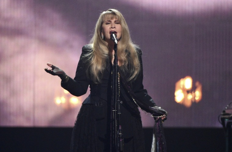 Image: Inductee Stevie Nicks performs at the Rock & Roll Hall of Fame induction ceremony