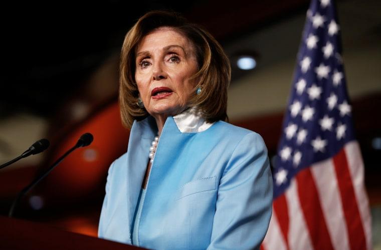 Speaker of the House Nancy Pelosi, D-Calif., speaks at the Capitol on Aug. 6, 2021.