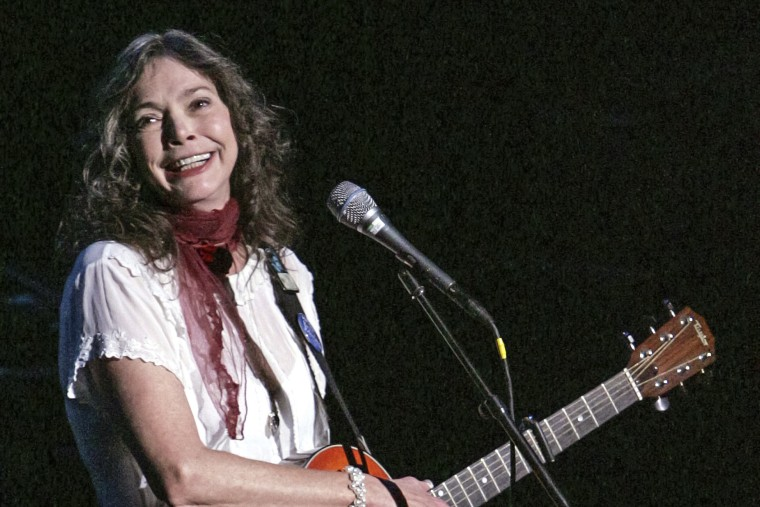 Nanci Griffith performs during the ACLU Freedom Concert on Oct. 4, 2004, in New York.