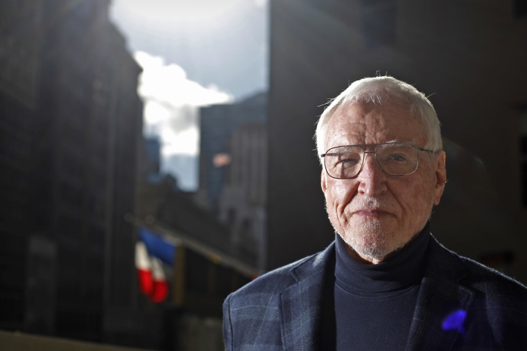 Ambassador James Hormel stands for a portrait on the roof of his office in downtown San Francisco on Thursday January 10, 2013.