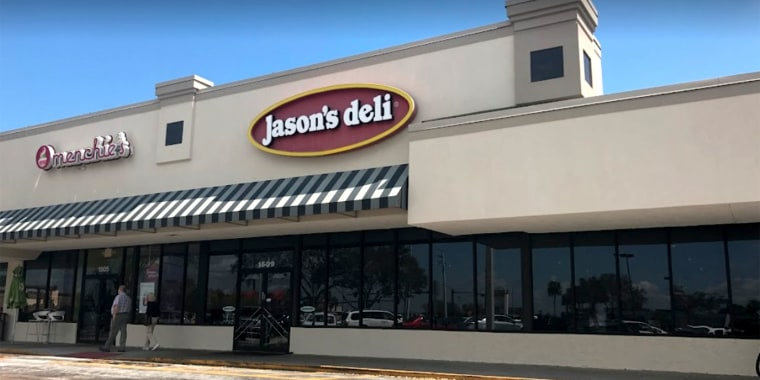 The sign was posted outside of Jason's Deli in Melbourne, Florida, and has since been taken down.