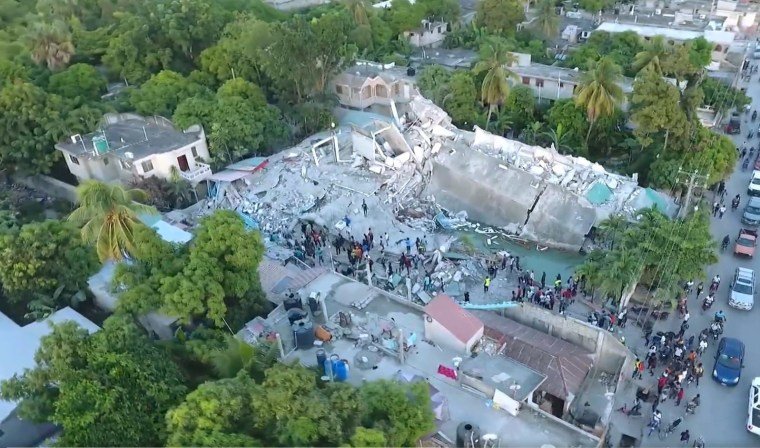 Video shows damage near the epicenter in Les Caves, Haiti after the 7.2-magnitude earthquake