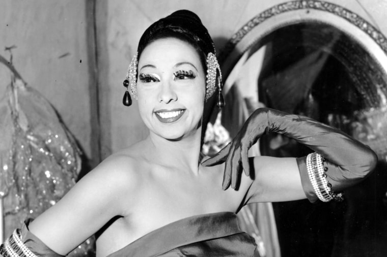 Josephine Baker at the Strand Theater in New York on March 6, 1961.