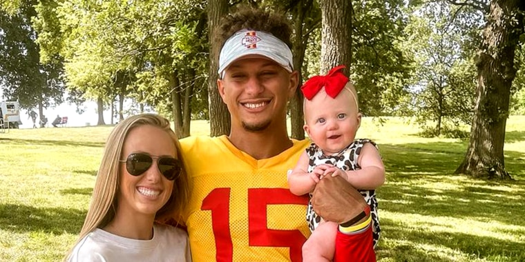 Brittany Matthews and Patrick Mahomes welcomed their first child together in February.