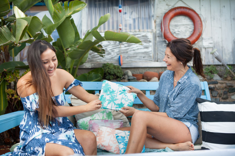 Heather Aiu and Rachael Leina'ala created a line of water-resistant travel bags with sales that give back to their community.