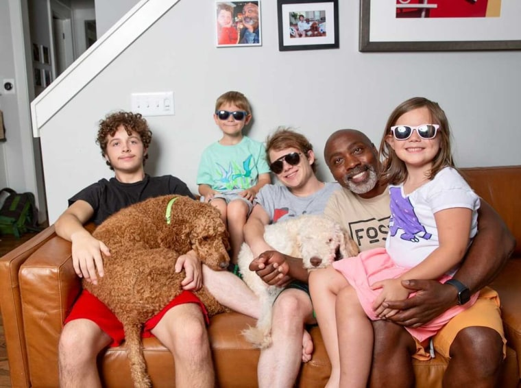 Peter Mutabazi now shares his home in North Carolina with four kids and two dogs.