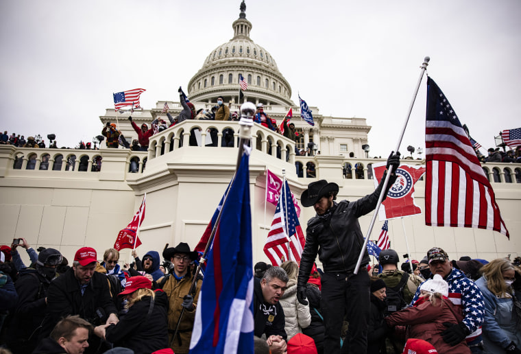 Image: Pro-Trump supporters storm the U.S. Capitol following a rally