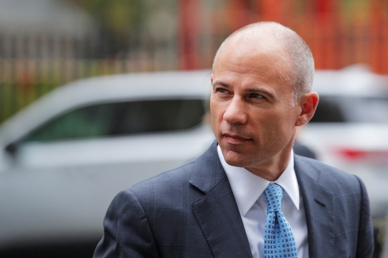 Attorney Michael Avenatti arrives at the United States Courthouse in New York on Oct. 8, 2019.