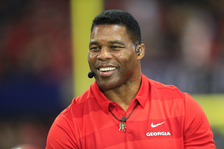 Herschel Walker speaks during the pregame show ahead of the SEC Championship Game between the UGA Bulldogs and the LSU Tigers on Dec. 7, 2019 in Atlanta.