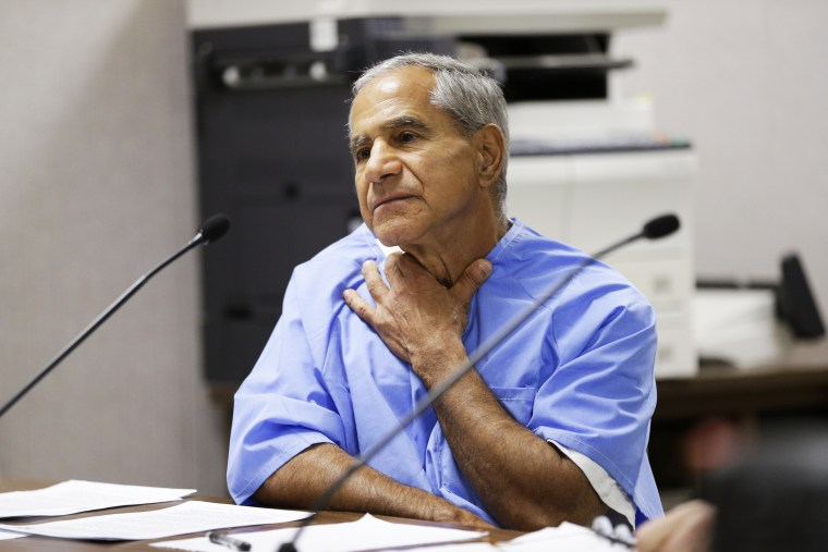 Sirhan Sirhan describes being choked during a parole hearing on Feb. 10, 2016, at the Richard J. Donovan Correctional Facility in San Diego.