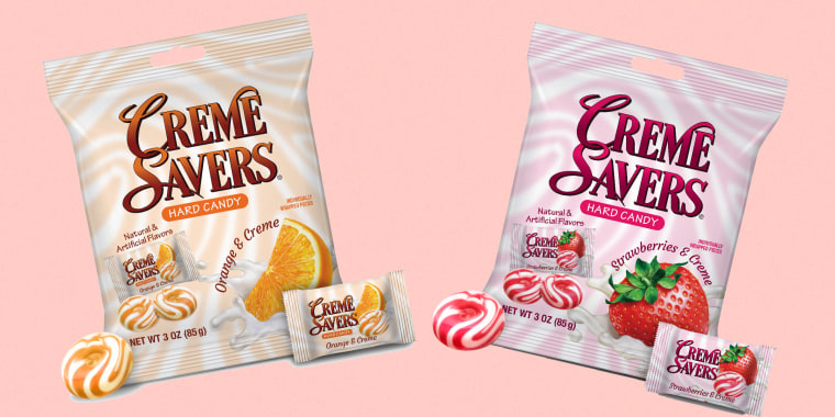 Creme Savers are being revived by Mars Wrigley and Iconic Candy with two flavors, Strawberries & Creme and Orange & Creme.