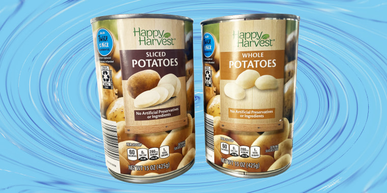A super trendy Aldi product is also a humble one: canned potatoes.