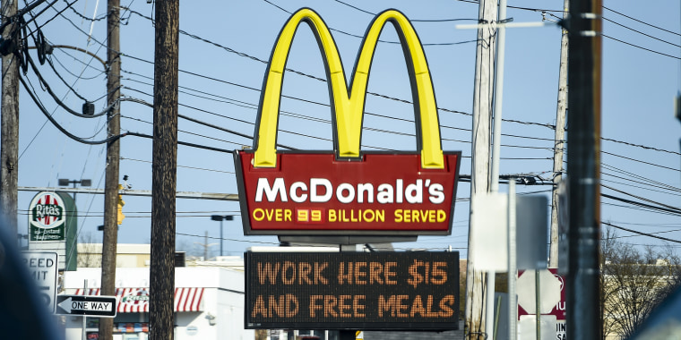 McDonald's Advertising $15 Wage In Pennsylvania