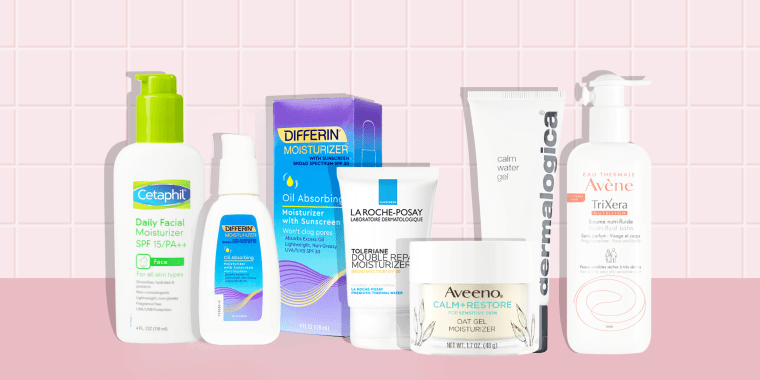 Illustration of 6 moisturizing products to pair with skin-drying retinol