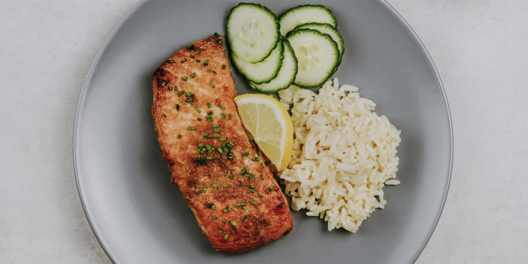 Omega-3 rich salmon, vegetables and whole grains are all foods that help support a healthy immune system.