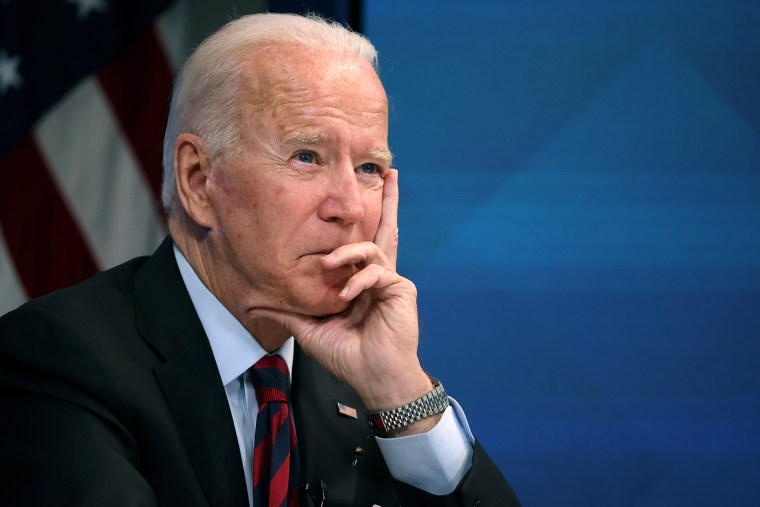 Image: President Biden Meets Virtually With Governors Affected By Hurricane