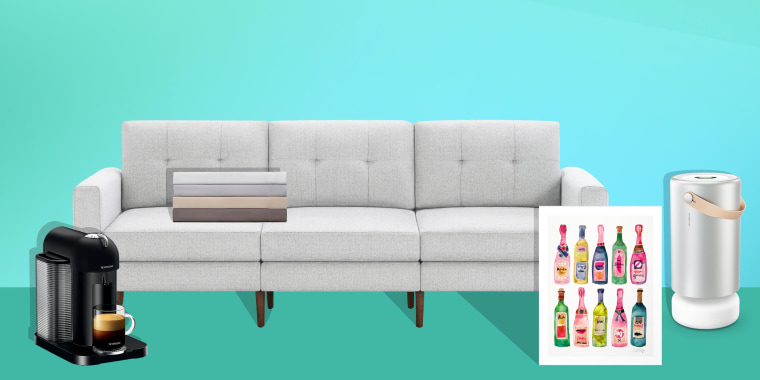 Illustration of a Nespresso by Breville VertuoLine, Picture frame, Burrow Block Nomad Sofa, sheets and Molekule Air Pro. The best Labor Day sales are happening now. Shop the best deals for Labor Day including tech, beauty and home deals from Amazon, Macy'