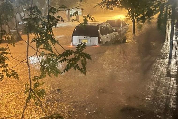 Image: Heavy flooding in Newark, NJ on Sept. 1, 2021