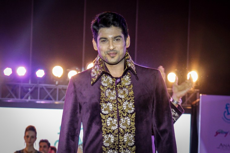 Bollywood actor and model Sidharth Shukla on May 11, 2016 in New Delhi.