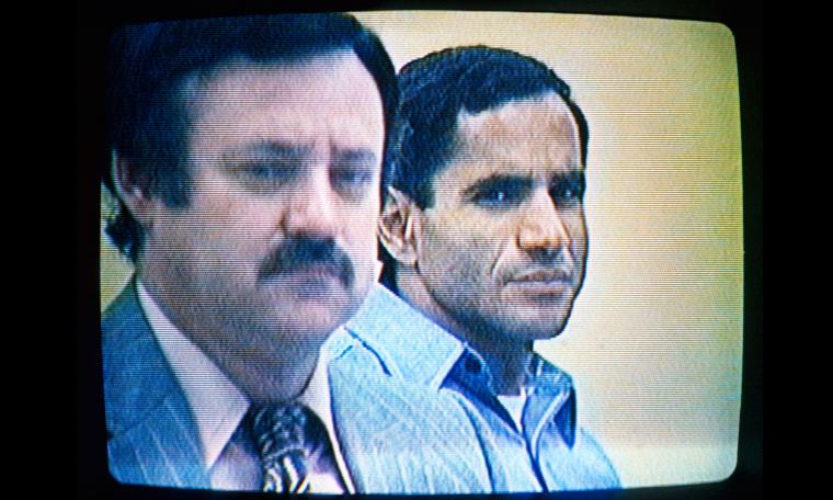 Image: Attorney Luke McKissack with defendant Sirhan Sirhan.
