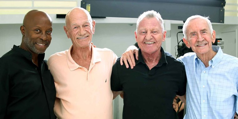 From left, Jessay Martin, 68, Robert Reeves, 78, Michael Peterson, 65, and William Lyons, 77, are four friends, known as the Old Gays, who have over 2 million followers on TikTok.