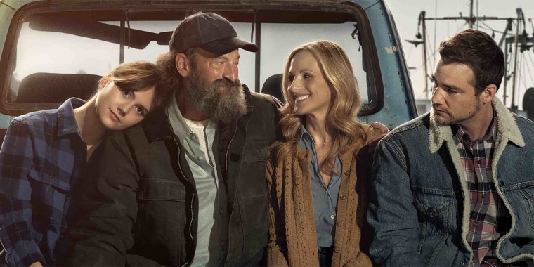 """Academy Award-winning actor Marlee Matlin (center right) stars in the new movie """"CODA"""" alongside two other deaf actors."""