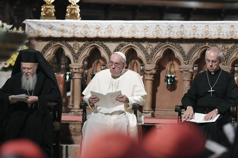 Image: Pope Francis, Justin Welby Patriarch Bartholomew