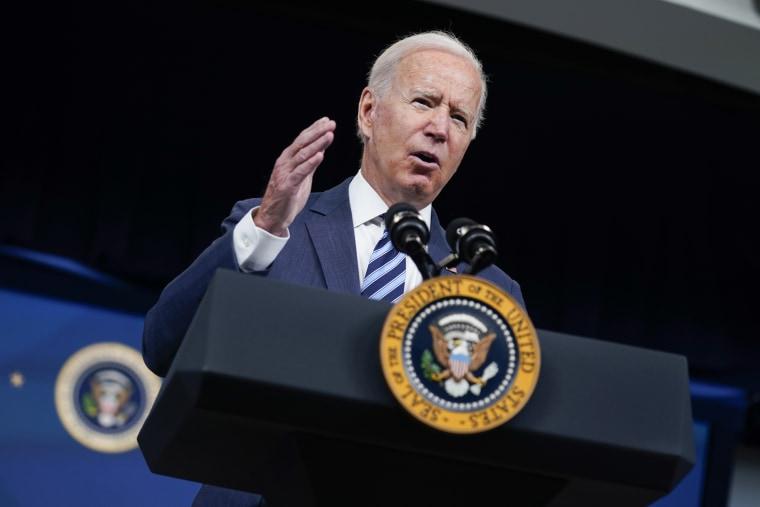 President Joe Biden speaks about the response to Hurricane Ida at the White House on Sept. 2, 2021.