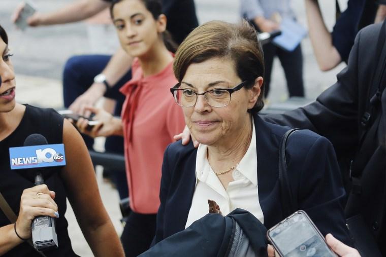 Image: Nancy Salzman leaves federal court in Brooklyn, N.Y., on July 25, 2018.