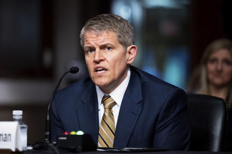 David Chipman, nominee for the director of the Bureau of Alcohol, Tobacco, Firearms, and Explosives, speaks at his Senate confirmation hearing on May 26, 2021.