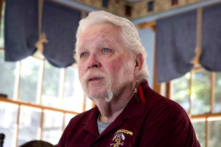 Kevin Maxwell, 72, a former volunteer firefighter who spent seven months carrying out search and rescue operations at ground zero after 9/11, sits at his home in Spotsylvania, Va., on Sept. 7, 2021.