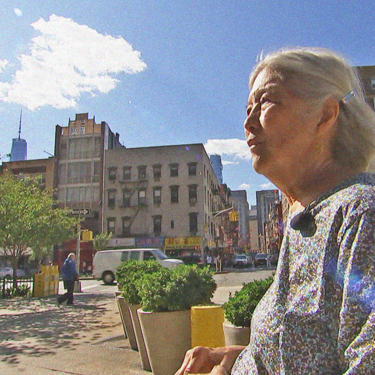 Image: May Chen in Confucius Plaza, where she was 20 years ago when the twin towers fell.