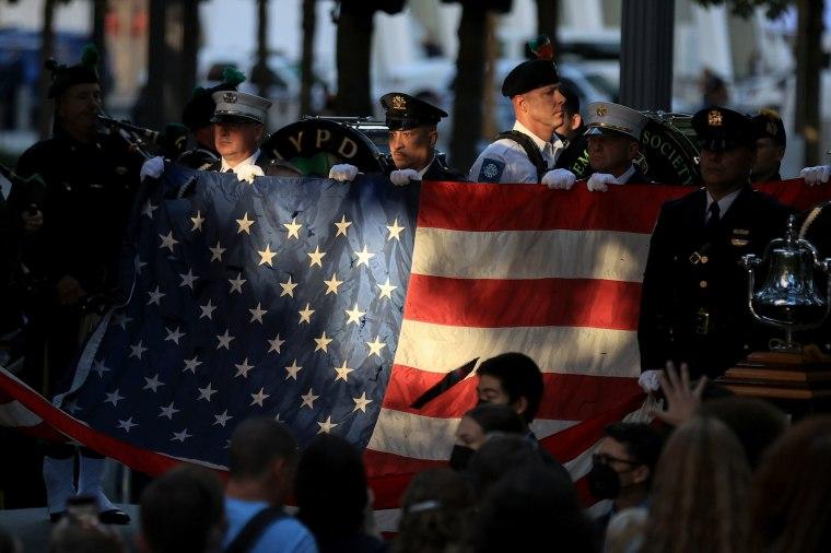 New York City Commemorates 20th Anniversary Of 9/11 Terror Attacks