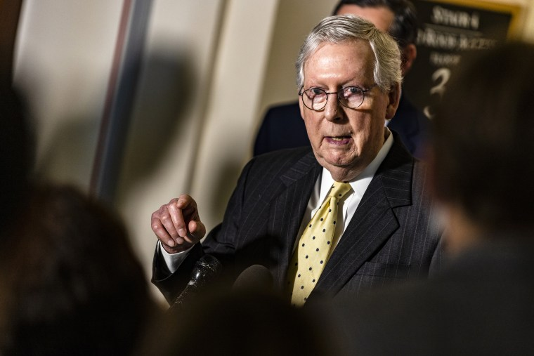 Image: Mitch McConnell, Senate Moves Forward With Bill Aimed At Countering China's Rise