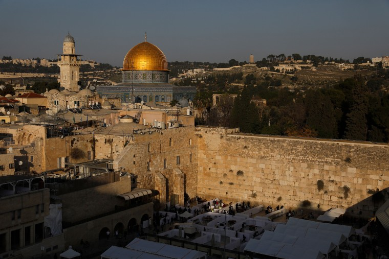 Image: Jerusalem's Western Wall and the Dome of the Rock.