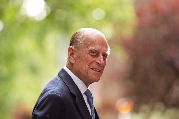 Prince Philip, Duke of Edinburgh, arrives for his visit to Richmond Adult Community College on June 8, 2015, in London.