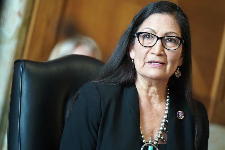 Image: Deb Haaland, Senate Energy And Natural Resources Committee Examines Nomination Of Debra Haaland For Interior Secretary