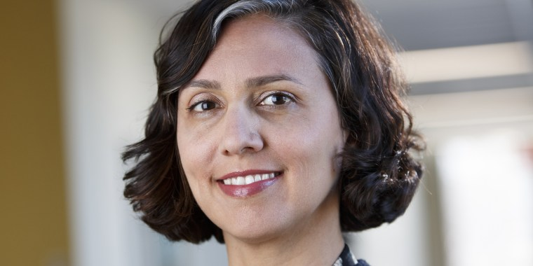 Nadia Chaudhri, seen in a 2019 faculty photo provided by Concordia University, began experiencing symptoms right before the start of the pandemic.