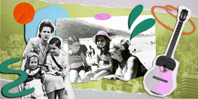 Collage of vintage images with Caracas, Venezuela in the background