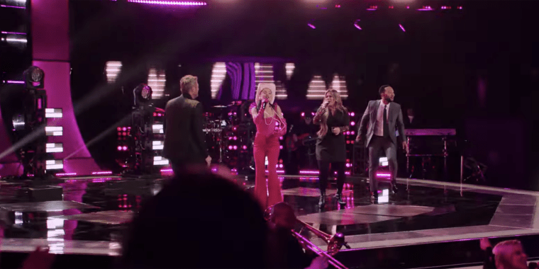 """The four performed a mash-up of Aretha Franklin's """"Respect"""" and Sam & Dave's """"Hold On, I'm Coming."""""""
