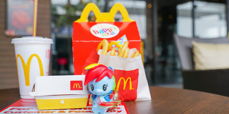 Happy Meal toys will soon be made from more sustainable materials.