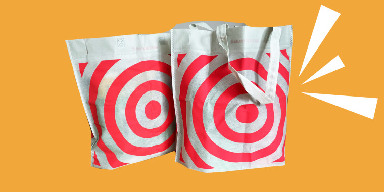 The reusable shopping bags have become a popular accessory in areas with bans on plastic shopping bags.