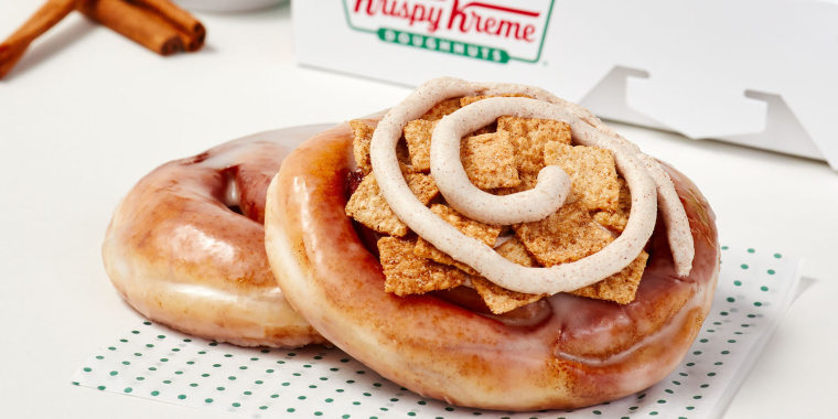 Krispy Kreme's latest offering is a sweet, round, glazed pastry — but it's not a doughnut.