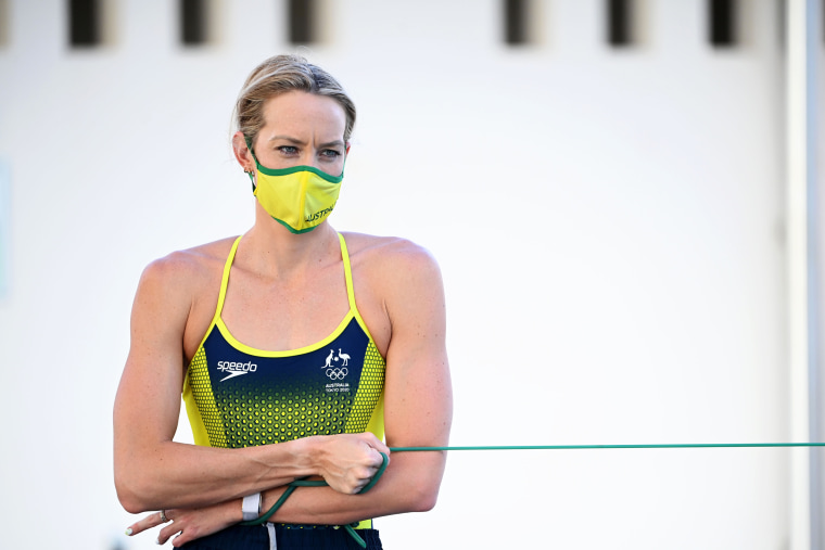 Madi Wilson attends the Australian Dolphins Swimming Team Camp ahead of the Tokyo Games on July 13, 2021, in Cairns, Australia.