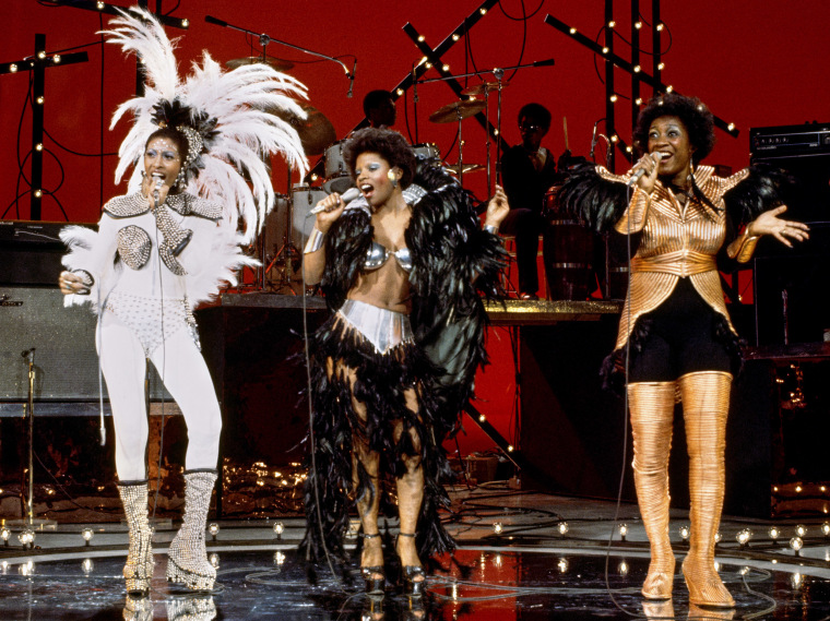 Image: Nona Hendryx, Sarah Dash and Patti LaBelle on Cher's solo music and variety show on Feb. 16, 1975.